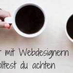 Zusammenarbeit mit Webdesignern!