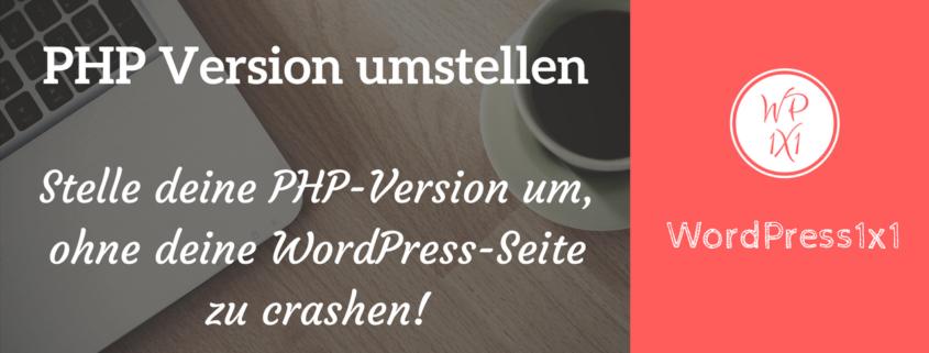 PHP in WordPress updaten