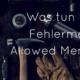 Fehlermeldung Fatal error aölowed memory size